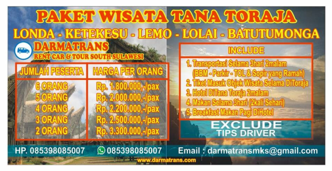Paket Tour Toraja